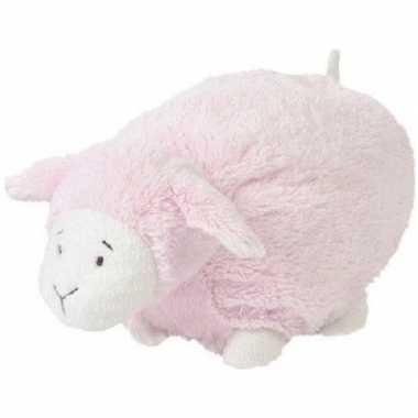 Goedkope happy horse roze liggend/staand pluche lammetje knuffel
