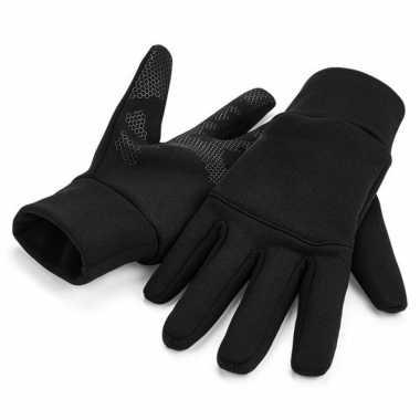 Goedkope hardloop handschoenen touchscreen volwassenen zwart