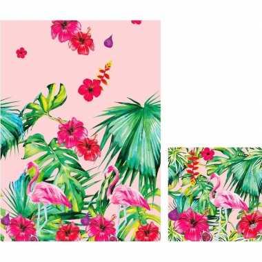 Goedkope hawaii thema tafeldecoratie set tafelkleed/servetten