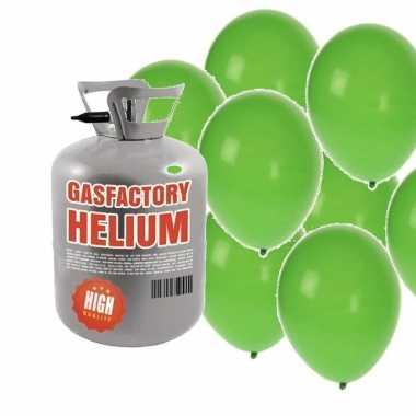 Goedkope helium tank groene ballonnen