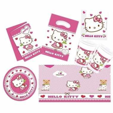 Goedkope hello kitty thema kinderfeestje versiering pakket personen