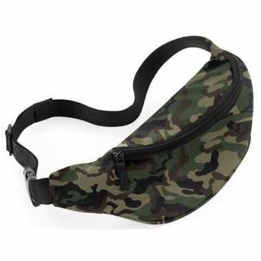 Heuptasje/buideltasje camouflage/leger goedkope