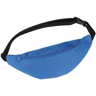 Goedkope heuptasje/buideltasje/fanny pack blauw