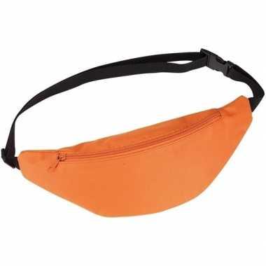 Goedkope heuptasje/buideltasje/fanny pack oranje