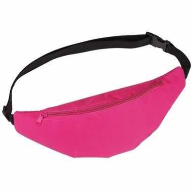 Goedkope heuptasje/buideltasje/fanny pack roze