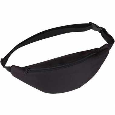Goedkope heuptasje/buideltasje/fanny pack zwart