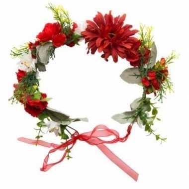 Goedkope hippie/flower power verkleed bloemen hoofdband