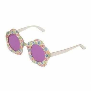 Goedkope hippie verkleed bril paarse glazen volwassenen