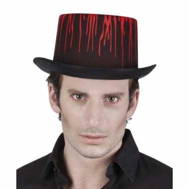 Goedkope hoge halloween hoed druipend bloed volwassenen