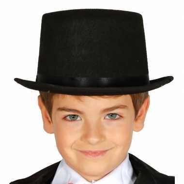Goedkope hoge hoed zwart kinderen