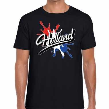 Goedkope holland t shirt spetter zwart heren