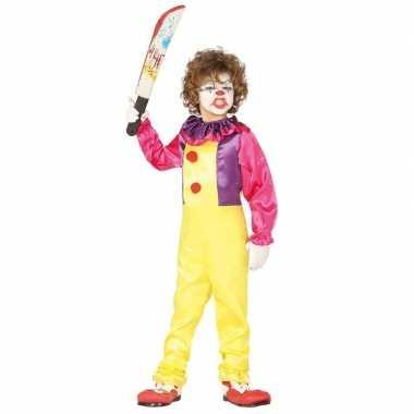 Goedkope horror clown freak verkleed kostuum kinderen