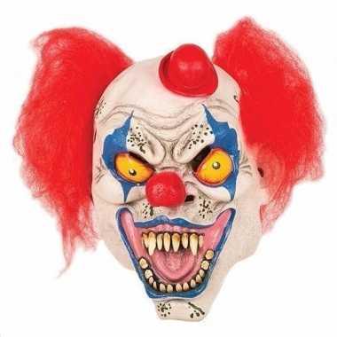 Goedkope horror clown masker hoedje