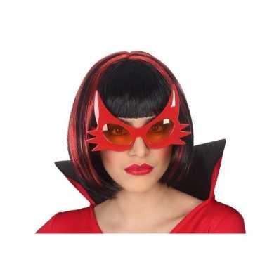 Goedkope horror duivel verkleed bril rood volwassenen