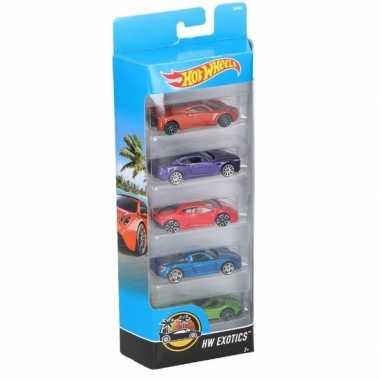 Goedkope hot wheels speelgoed luxe sportwagen set stuks