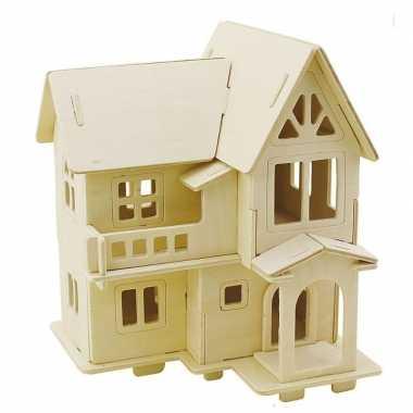 Goedkope houten d bouwpakket huis balkon