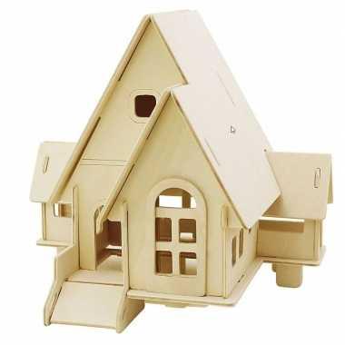 Goedkope houten d bouwpakket huis puntdak