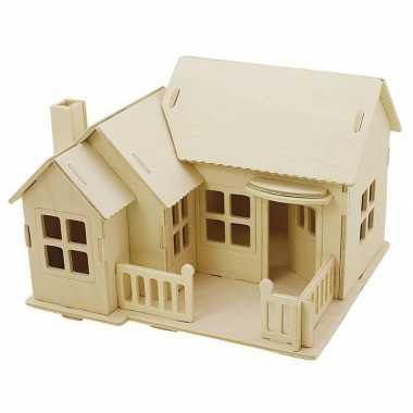 Goedkope houten d bouwpakket huis terras