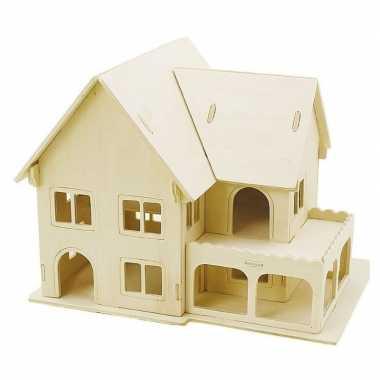 Goedkope houten d bouwpakket huis veranda