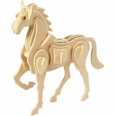 Goedkope houten d puzzel paard