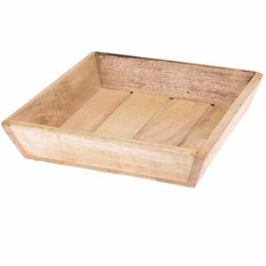 Goedkope houten dienblad vierkant