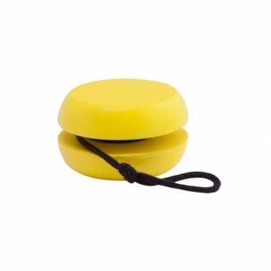 Goedkope houten jojo geel