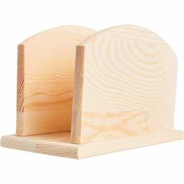 Goedkope houten servetten houder om te knutselen