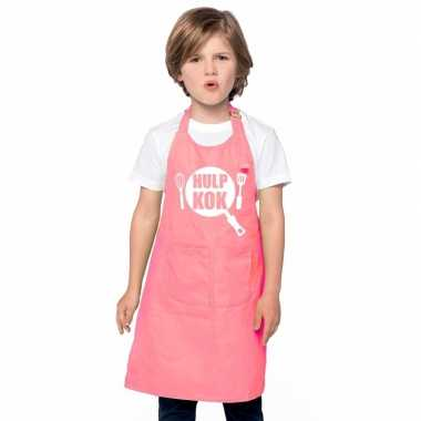 Goedkope hulpkok keukenschort roze kinderen
