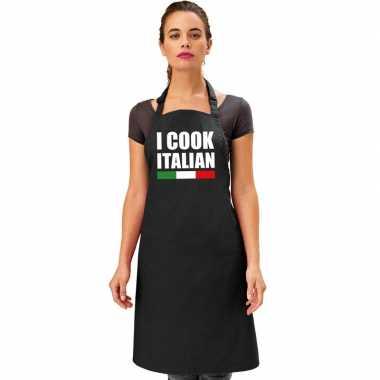 Goedkope i cook italian keukenschort