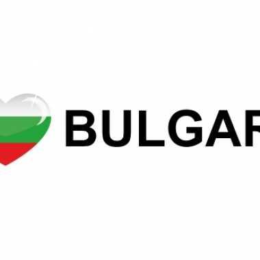 Goedkope i love bulgaria sticker