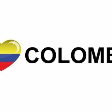 Goedkope i love colombia sticker