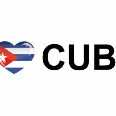 Goedkope i love cuba sticker