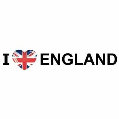Goedkope i love england papieren sticker