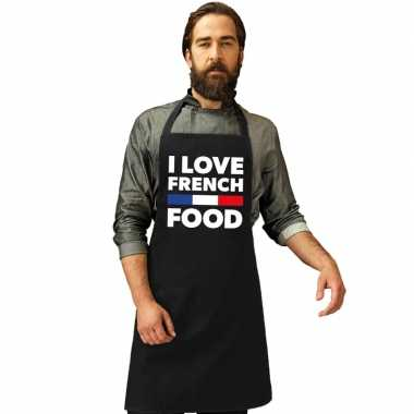 Goedkope i love french food keukenschort