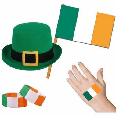 Goedkope ierland/iers thema verkleed set volwassenen