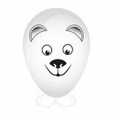 Goedkope ijsbeer ballon versieren
