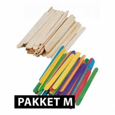 Goedkope ijslolly houtjes pakket middel