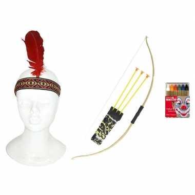 Goedkope indianen accessoire set volwassenen