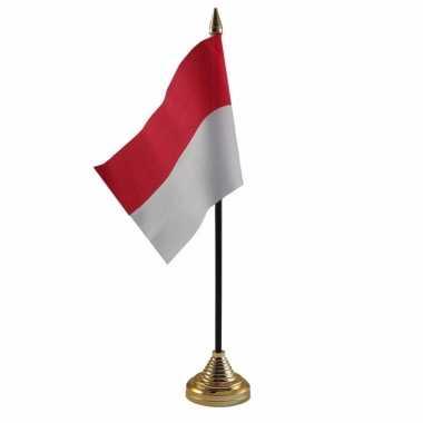 Goedkope indonesie tafelvlaggetje standaard