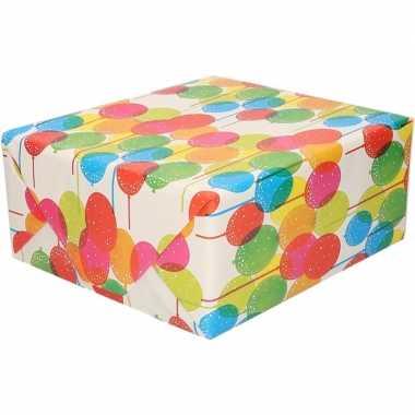 Goedkope inpakpapier ballonnen motief rol