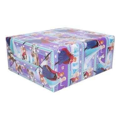 Goedkope inpakpapier/cadeaupapier disney frozen paars x