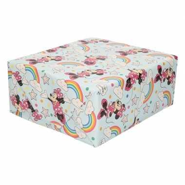 Goedkope inpakpapier/cadeaupapier disney minnie mouse regenboog x