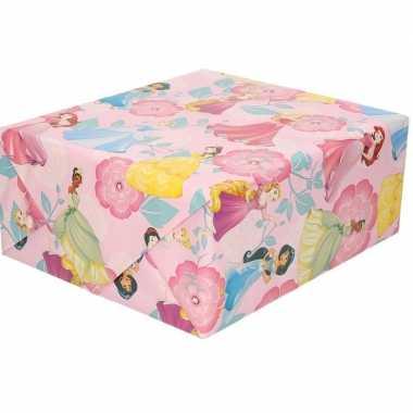 Goedkope inpakpapier/cadeaupapier disney princess roze x