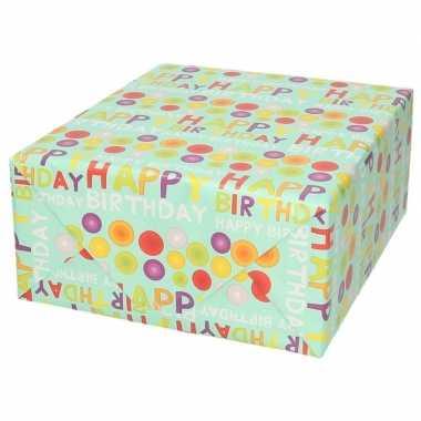Goedkope inpakpapier/cadeaupapier happy birthday design