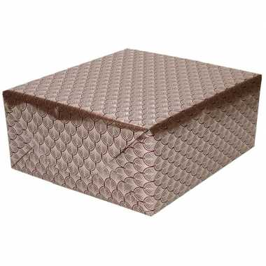 Inpakpapier/cadeaupapier rood/goud art deco goedkope