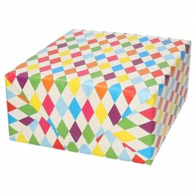 Goedkope inpakpapier/cadeaupapier ruitjes design rol