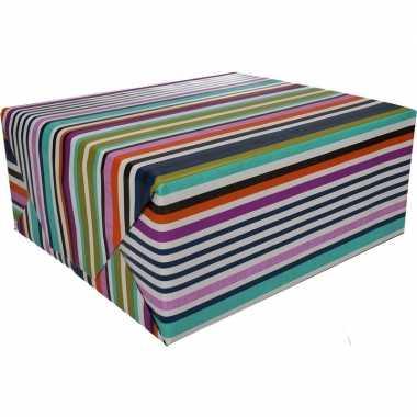 Goedkope inpakpapier gekleurde strepen rol type
