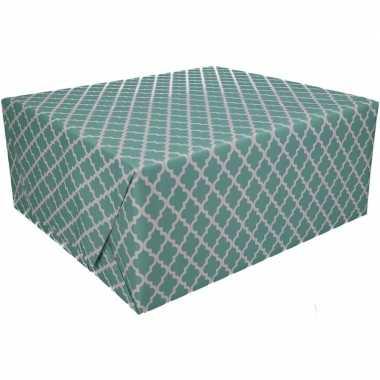 Goedkope inpakpapier mintgroen maroc design rol type