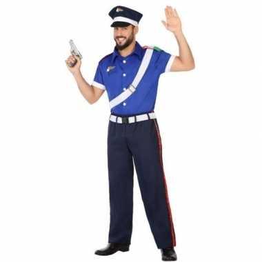 Goedkope italiaanse politie verkleed pak/kostuum volwassenen