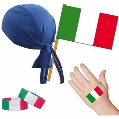 Goedkope italie/italiaans thema verkleed set volwassenen